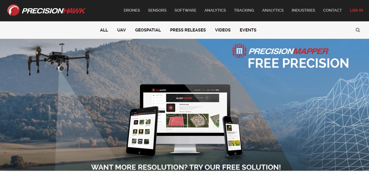 Free PrecisionMapper Software For Drone Mapping GeoInformatics - Drone mapping software free