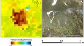 Land motion map of Scotland derived from satellite radar images