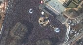 Great shots from WorldView-3 satellite of the Super Bowl parade
