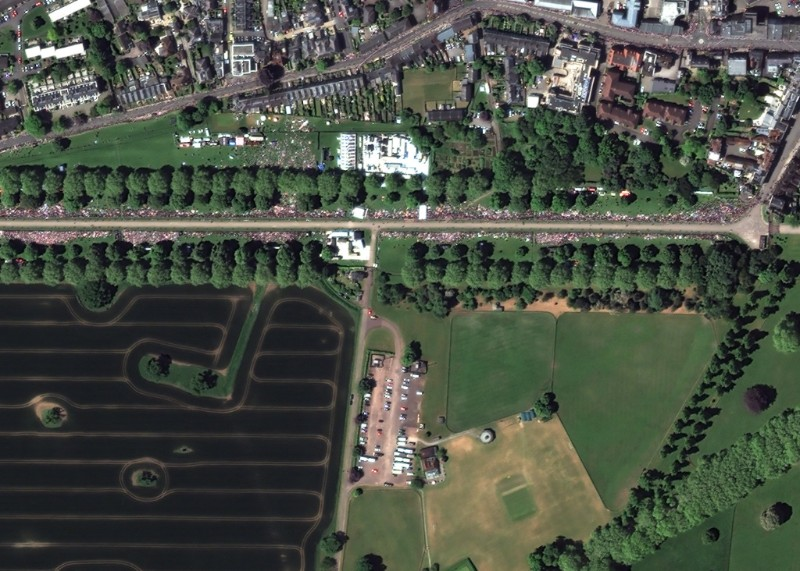 Satellite images of royal wedding by European Space Imaging