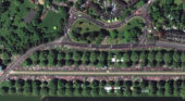 Satellite images of royal wedding by European Space Imaging