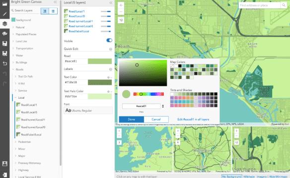 Design custom basemaps with the new ArcGIS Vector Tile Style Editor