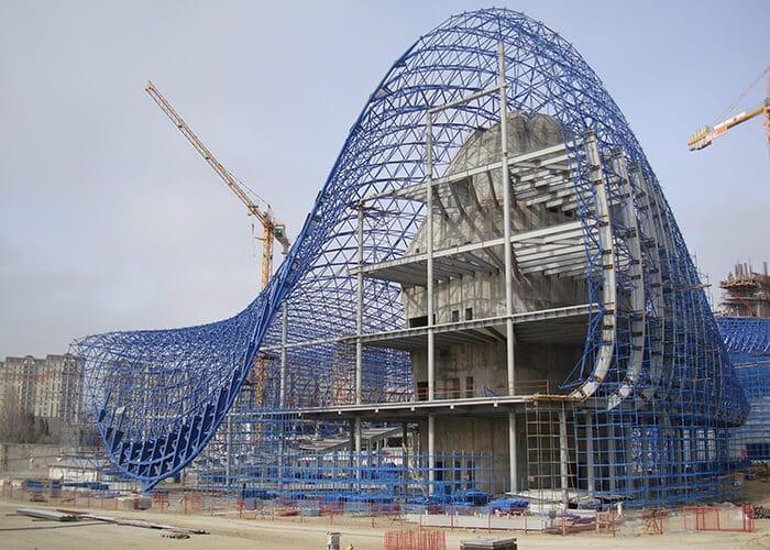 The Complex Curves Of Zaha Hadid Architectsu0027 Heydar Aliyev Center Were  Designed Using Early Script Driven Geometry Engines. Courtesy Zaha Hadid  Architects.