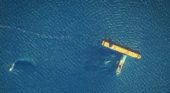 Satellite images highlight major oil spill